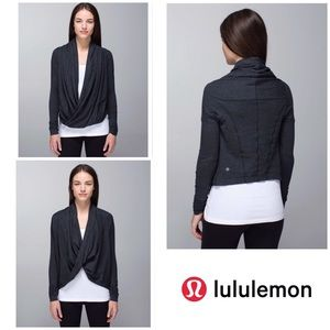 Lululemon Heather Black Iconic Wrap Long Sleeve 6